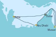 Visitando Dubai, Dubai, Doha (Catar), Abu Dhabi (Emiratos Árabes Unidos), Muscat (Omán), Dubai, Dubai