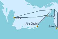 Visitando Dubai, Dubai, Doha (Catar), Muscat (Omán), Abu Dhabi (Emiratos Árabes Unidos), Abu Dhabi (Emiratos Árabes Unidos), Dubai