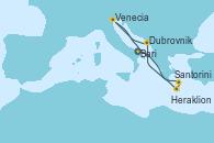 Visitando Bari (Italia), Santorini (Grecia), Heraklion (Creta), Dubrovnik (Croacia), Venecia (Italia), Bari (Italia)