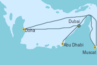 Visitando Dubai, Dubai, Doha (Catar), Muscat (Omán), Abu Dhabi (Emiratos Árabes Unidos), Abu Dhabi (Emiratos Árabes Unidos)