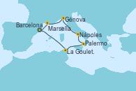 Visitando Barcelona, La Goulette (Tunez), Palermo (Italia), Nápoles (Italia), Génova (Italia), Marsella (Francia), Barcelona