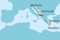 Visitando Venecia (Italia), Bari (Italia), Santorini (Grecia), Heraklion (Creta), Dubrovnik (Croacia), Venecia (Italia)
