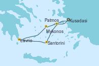 Visitando Kusadasi (Efeso/Turquía)Patmos (Grecia), Santorini (Grecia), Lavrio (Grecia), Mykonos (Grecia), Kusadasi (Efeso/Turquía)