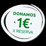Donamos un euro por cada reserva